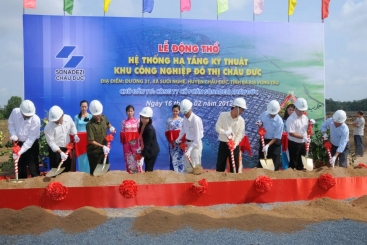 Chau Duc Sonadezi held the groundbreaking ceremony for the technical infrastructure system of  Chau Duc Urban Industrial Park