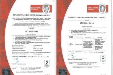 THÔNG BÁO VỀ VIỆC ĐƯỢC CẤP CHỨNG NHẬN TIÊU CHUẨN ISO 9001:2015 & 14001:2015