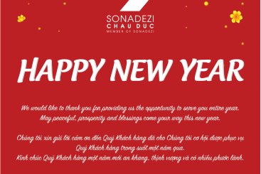 Công ty CP Sonadezi Châu Đức xin thông báo đến Quý khách hàng lịch nghỉ Tết Âm Lịch 2020